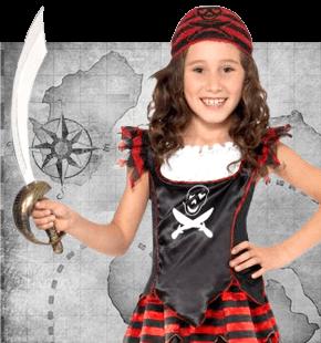 Strój Piratki dla Dziewczynki Przebrania Piratek dla dzieci